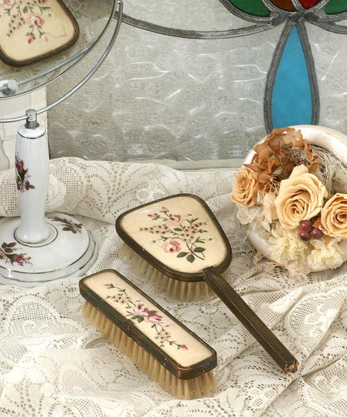 イギリス〉1950年代花刺繍 ...