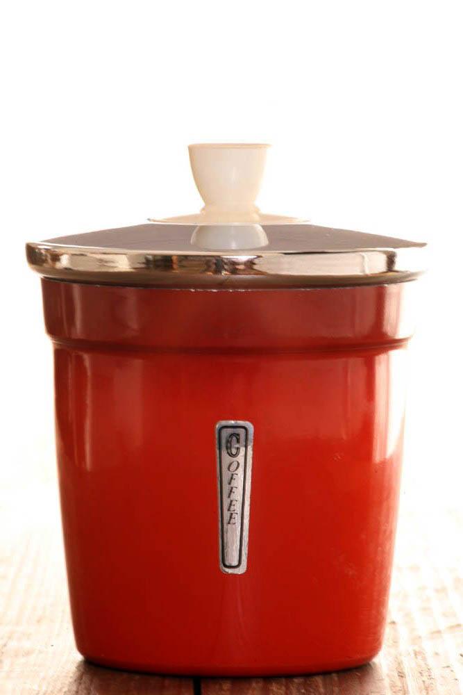 ... 赤いキッチン雑貨 約高さ13.3cm