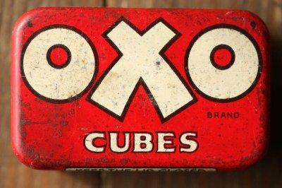 画像1: イギリスアンティーク缶OXO(オクソ)