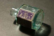 画像6: 〈イギリス〉1900年頃  英国ガラスインク瓶 英字ラベルRUBBER STAMPS オクタゴン (約高さ6.0cm) (6)
