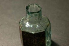 画像10: 〈イギリス〉1900年頃  英国ガラスインク瓶 英字ラベルRUBBER STAMPS オクタゴン (約高さ6.0cm) (10)