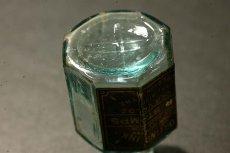 画像11: 〈イギリス〉1900年頃  英国ガラスインク瓶 英字ラベルRUBBER STAMPS オクタゴン (約高さ6.0cm) (11)