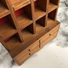 画像15: イギリス 英国製 木製シンブルディスプレイラック+英国陶製シンブル 16個セット (15)