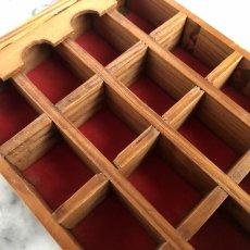 画像13: イギリス 英国製 木製シンブルディスプレイラック+英国陶製シンブル 16個セット (13)