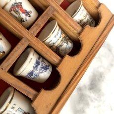画像8: イギリス 英国製 木製シンブルディスプレイラック+英国陶製シンブル 16個セット (8)