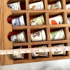 画像9: イギリス 英国製 木製シンブルディスプレイラック+英国陶製シンブル 16個セット (9)