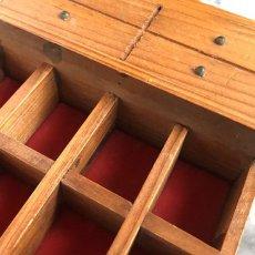 画像14: イギリス 英国製 木製シンブルディスプレイラック+英国陶製シンブル 16個セット (14)