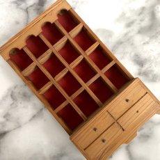 画像12: イギリス 英国製 木製シンブルディスプレイラック+英国陶製シンブル 16個セット (12)