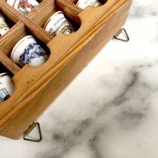 画像7: イギリス 英国製 木製シンブルディスプレイラック+英国陶製シンブル 16個セット (7)