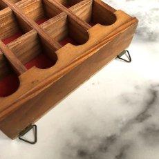 画像16: イギリス 英国製 木製シンブルディスプレイラック+英国陶製シンブル 16個セット (16)