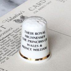 画像2: イギリス  英国陶製シンブル 指貫 ダイアナ妃とウイリアム王子 (2)