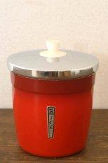 画像3: 〈オーストラリア〉アンティークキャニスター ライス人気の赤いキッチン雑貨 約高さ17.1cm (3)