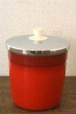 画像2: 〈オーストラリア〉アンティークキャニスター ライス人気の赤いキッチン雑貨 約高さ17.1cm (2)