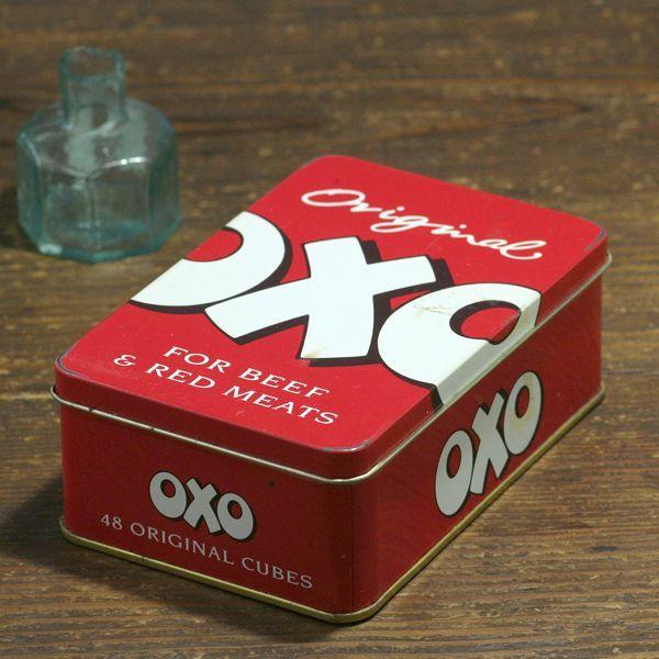 画像1: イギリス ヴィンテージ缶 OXO FOR BEEF & RED MEET(オクソ缶) (1)
