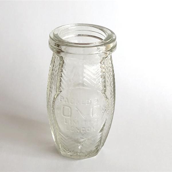 画像1: イギリス  1910-1920年 OXO アンティークリザーブポット 保存瓶 (約9.5cm) (1)