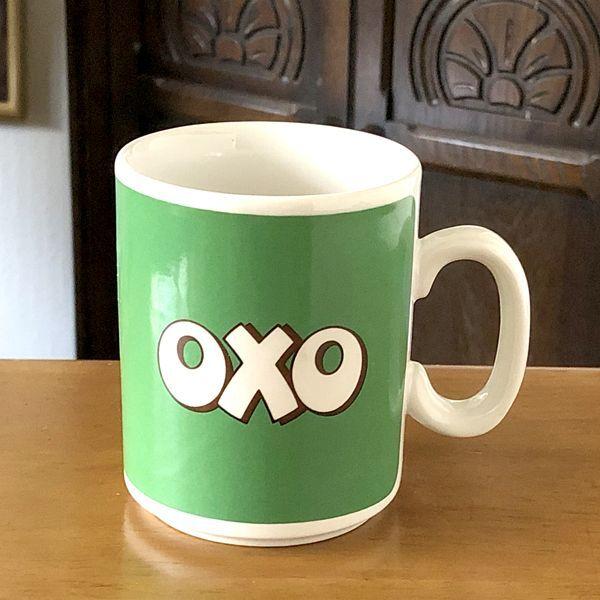 画像1: イギリス  1980-1990年代 OXO マグカップ グリーン (1)